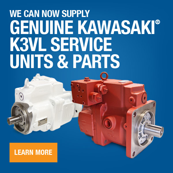 Now Supplying Kawasaki K3VL Units & Parts