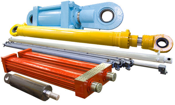 Hydraulic Cylinders for Earth Moving, Marine, Press, Crane, Telescopic, Shear and Chip Dump applications