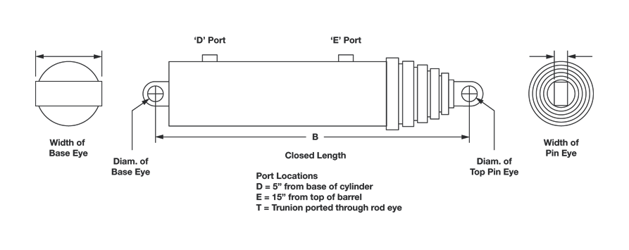 Hyco Telescopic Cylinder Diagram