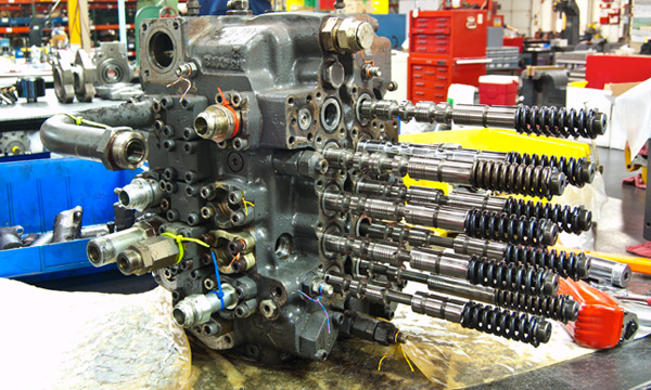 Hydraulic Control Valve Repair Services at Hydraulic Repair and Design - Main Control Assembly and Disassembly