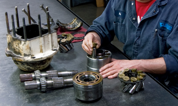 Hydraulic Pump & Motor Repair Services at Hydraulic Repair and Design - Repairing a Hydraulic Pump